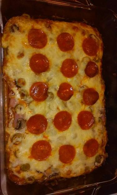 frf pizza cooked low carb