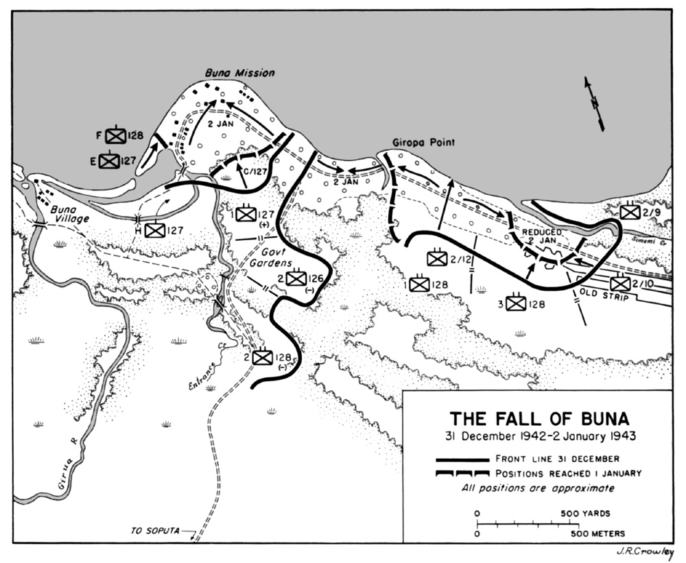 Battle of Buna Mission map