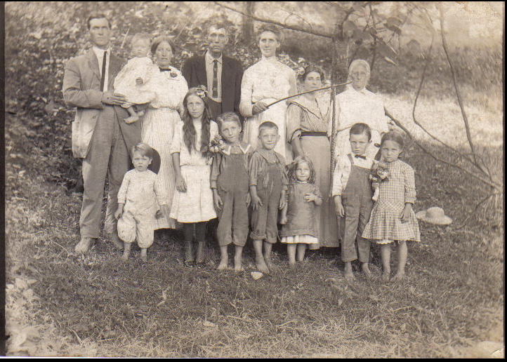 Critchley and Brown family abt 1919 WV